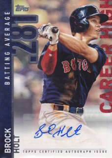 2015 Topps Update Brock Holt Career High Auto /ポニーランド M1様