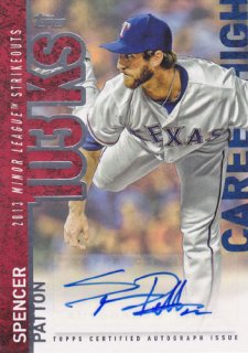 2015 Topps Update Spencer Patton Career High Auto ポニーランド M1様