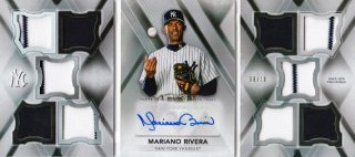 2015 Topps Triple Threads Mariano Rivera 10th Anniversary Deca Threads Auto Relics【10枚限定】札幌店 よし様
