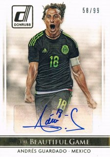 2015 PANINI DONRUSS The Beautiful Game Signature Gold Andres Guardado 【99枚限定】 ミント渋谷店 SirCry様