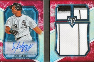 2015 Topps Triple Threads Jose Abreu Jumbo Plus Autographed Relics 【1枚限定】MINT札幌店 よし様