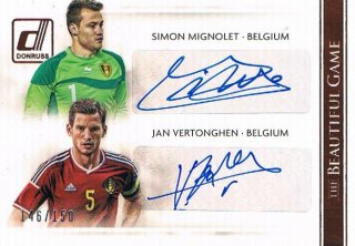 2015 PANINI DONRUSS The Beautiful Game Combo Sig  S.Mignolet & J.Vertonghen 【150枚限定】 ミント渋谷店 S様