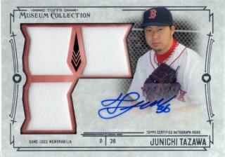 2015 Topps Museum Collection Swatches Triple Relic Autograph Card Junichi Tazawa 【349枚限定】 梅田店 ディック様
