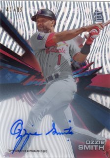 2015 Topps High Tek Autograph Card (Tidal Diffractor) Ozzie Smith 【99枚限定】 梅田店 ブラッドオレンジ様