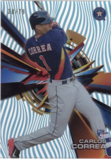 2015 Topps High Tek RC Base Parallel Card (Sky Rainbow) Carlos Correa 【79枚限定】 梅田店 ブラッドオレンジ様