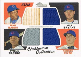 2015 Topps heritage High Number Brayant&Castro&Rizzo&Banks 【10枚限定】池袋店ホリホリ様