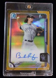 2015 TOPPS BOWMAN DRAFT Chrome Draft Pick Prospect Auto Gold Brendan Rodgers 【50枚限定】/MINT 立川店 TEN様
