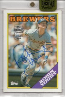 2015 TOPPS ARCHIVES SIGNATURE SERIES Robin Yount【1枚限定】福岡店 RVP様
