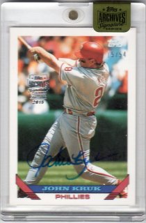 2015 Topps Archives Signature Series John kruk【54枚限定】 ミント千葉店 mini様