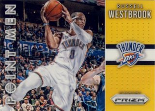 2015-16 PANINI PRIZM Point Men Gold Prizm Russell Westbrook 【10枚限定】Rookie Star RS52様