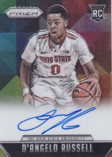 2015-16 Panini Prizm D'angelo Russell RC Autograph card ポニーランド M様