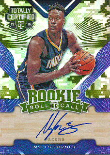Rookie Star RS3様 2015-16 PANINI TOTALLY CERTIFIED RC Camo Auto Myles Turner 25枚限定