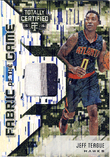 2015-16 PANINI TOTALLY CERTIFIED Camo Patch Jeff Teague【25枚限定】 Rookie Star RS4様