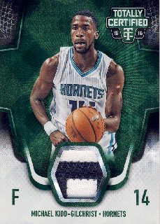 2015-16 PANINI TOTALLY CERTIFIED Green Patch Michael-Kidd Gilchrist【5枚限定】 Rookie Star RS4様