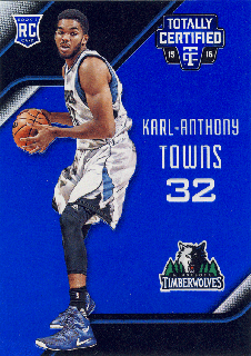 2015-16 PANINI TOTALLY CERTIFIED RC Blue Karl-Anthony Towns 【99枚限定】Rookie Star RS4様