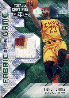 2015-16 PANINI TOTALLY CERTIFIED Green Patch LeBron James【 5枚限定】Rookie Star RS12様