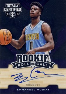 2015-16 PANINI TOTALLY CERTIFIED Auto Emmanuel Mudiay【99枚限定】 Rookie Star RS16様