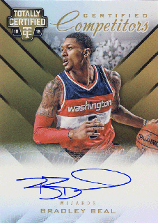 2015-16 PANINI TOTALLY CERTIFIED Gold Auto Bradley Beal 【10枚限定】Rookie Star RS28様