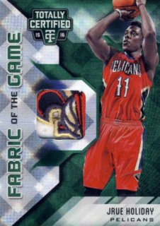 2015-16 PANINI TOTALLY CERTIFIED Green Patch Jrue Holiday【5枚限定】 Rookie Star RS57様