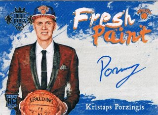 2015-16 PANINI COURT KINGS Fresh Paint Autographs Kristaps Porzingis / MINT新宿店457 土壷浜流くん様