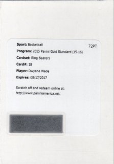 15-16 Panini Gold Standard Ring Bearers Card Dwyane Wade 【25枚限定】 MINT梅田店 でぃっく様