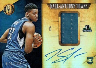 15-16 GOLD STANDARD Jersey Auto Karl-Anthony Towns【199枚限定】えびすスポーツカード redstar様
