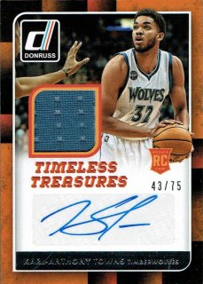15-16 DONRUSS Jersey Auto Karl-Anthony Towns【75枚限定】えびすスポーツカード ナッパ様