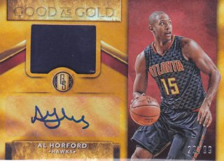 2015-16 Panini Gold Standard AL HORFORD Jersey & Autograph card 99枚限定 ポニーランド M様