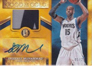 2015-16 Panini Gold Standard SHABAZZ MUHAMMAD Jersey & Autograph card 25枚限定 ポニーランド M様