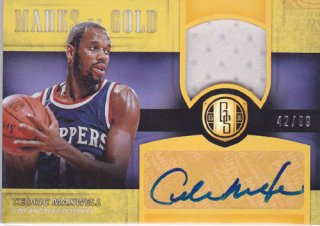 2015-16 Panini Gold Standard CEDRIC MAXWELL Jersey & Autograph card 99枚限定 ポニーランド M様
