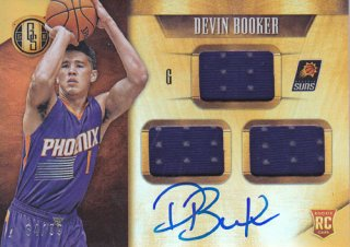 2015-16 Panini Gold Standard DEVIN BOOKER ROOKIE Jersey & Autograph card 99枚限定 ポニーランド 匿名様