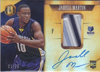 2015-16 Panini Gold Standard JARELL MARTIN ROOKIE Patch & Autograph card 25枚限定 ポニーランド 匿名様