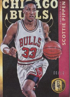 2015-16 Panini Gold Standard SCOTTIE PIPPEN RED Parallel card 15枚限定 ポニーランド 匿名様