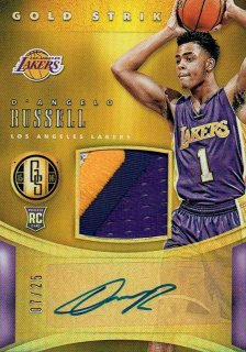 15-16 GOLD STANDARD Patch Auto D'Angelo Russell【25枚限定】えびすスポーツカード MAR07様