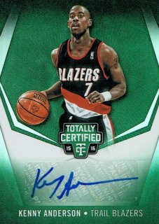 15-16 TOTALLY CERTIFIED Green Auto Kenny Anderson【5枚限定】えびすスポーツカード スプリー様