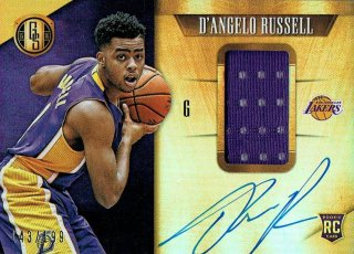 15-16 GOLD STANDARD Jersey Auto D'Angelo Russell【199枚限定】えびすスポーツカード のはらしんのすけ様