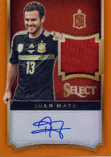 2015-16 PANINI SELECT Orange Jersey Auto Juan Mata【75枚限定】 Rookie Star RS61様