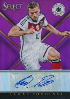 2015-16 PANINI SELECT Purple Auto Lukas Podolski 【10枚限定】Rookie Star RS64様