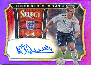 2015-16 PANINI SELECT Purple Auto Michael Owen【25枚限定】 Rookie Star RS64様