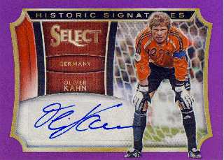 2015-16 PANINI SELECT Purple Auto Oliver Kahn 【25枚限定】Rookie Star RS65様