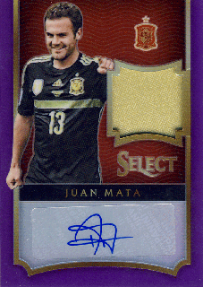 2015-16 PANINI SELECT Purple Patch Auto Juan Mata 【25枚限定】Rookie Star RS65様
