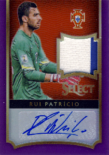 2015-16 PANINI SELECT Purple Patch Auto Rui Patricio 【25枚限定】Rookie Star RS66様