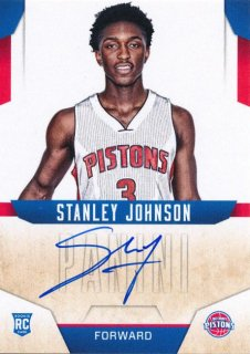 2015-16 PANINI ABSOLUTE Next Day Auto Stanley Johnson Rookie Star RS9様