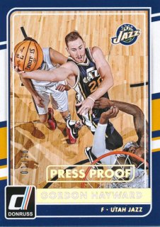 2015-16 PANINI DONRUSS Press Proof Gordon Hayward【10枚限定】 Rookie Star RS18様