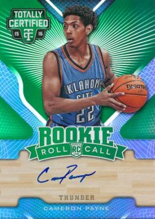 2015-16 PANINI TOTALLY CERTIFIED Green Auto Cameron Payne【 5枚限定】Rookie Star RS16様