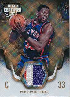 2015-16 PANINI TOTALLY CERTIFIED Gold Patch Patrick Ewing 【10枚限定】Rookie Star RS58様