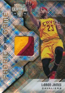 2015-16 PANINI TOTALLY CERTIFIED Gold Patch LeBron James 【10枚限定】Rookie Star RS63様