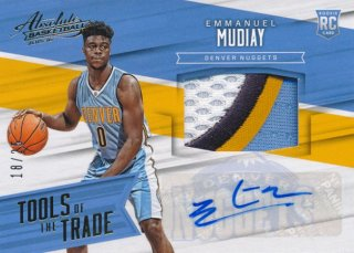 2015-16 PANINI ABSOLUTE Patch Auto Emmanuel Mudiay【 25枚限定】Rookie Star RS31様