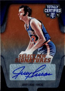 2015-16 PANINI TOTALLY CERTIFIED SELECT FEW SIGNATURES JERRY LUCAS 【25枚限定】/MINT立川店 yosh様
