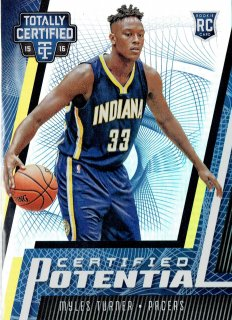 2015-16 PANINI TOTALLY CERTIFIED CERTIFIED POTENTIAL MYLES TURNER 【25枚限定】/MINT立川店 yosh様